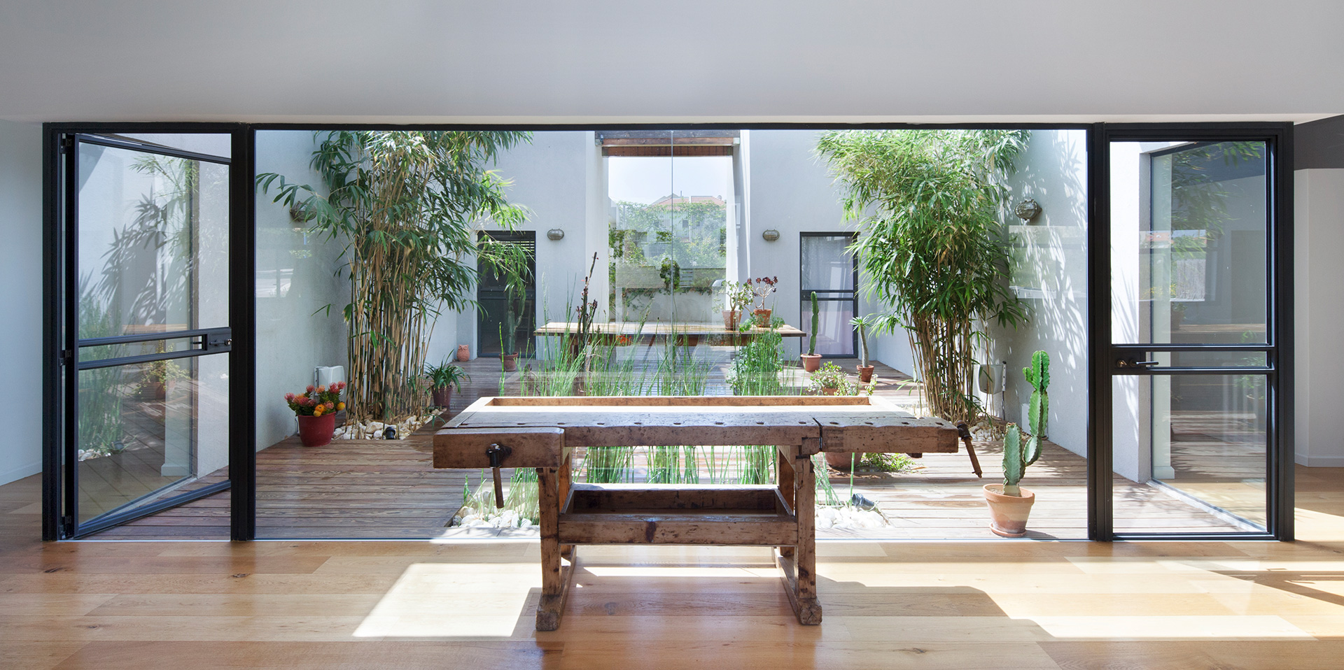 The patio house