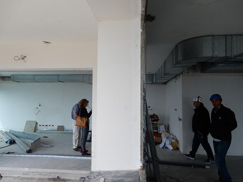 עבודות שיפוץ בקומה 41